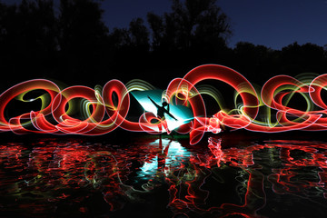 Long Exposure Light Painted Imagery With Color Fotobehang
