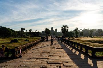 Causeway at entrance of Angkor Wat