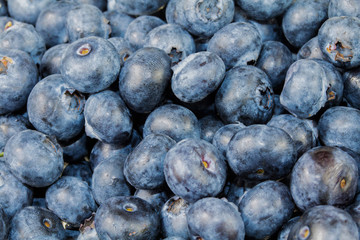 Full frame Close up Background Blueberries