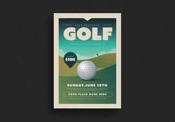 Golf Tournament Flyer Layout
