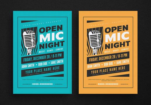 Open Mic Night Flyer Layout