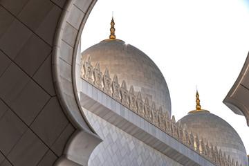 Sheikh zayed mosque exterior closeup