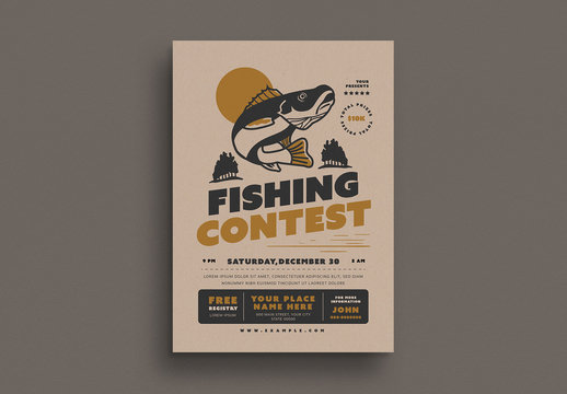 Fishing Contest Event Flyer Layout