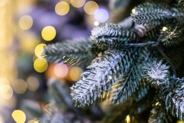 Printed kitchen splashbacks Light blue Christmas background with christmass balls - Soft focus