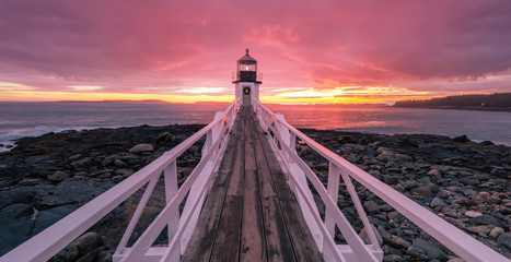 Epic Sunset at Marshall point lighthouse Wall mural