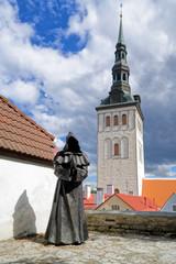 Garten des dänischen Königs mit Nikolaikirche, Tallinn, Estland