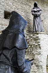 Mönch Statuen im Garten des dänischen Königs in Tallinn, Estland