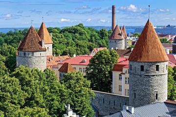 Historische Türme und Stadtmauer, Tallinn, Estland