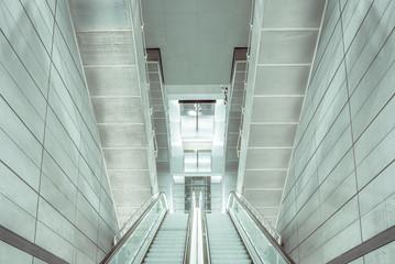 escalator inside a metro station in Copenhagen