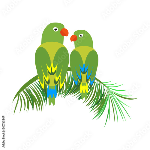 Icon of a sitting parrot  Tropical bird, simple parrot