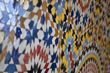 Moroccan tiles with traditional arabic patterns | Marrakesh, Morocco