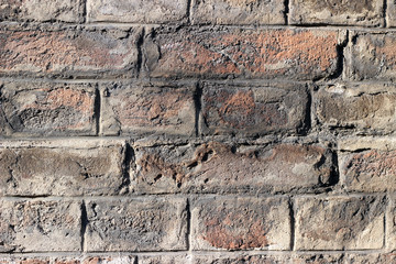 Brick wall old aged surface texture