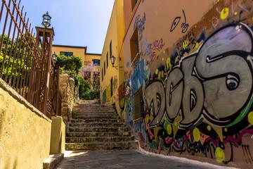 Graffiti Steps in Athens, Greece