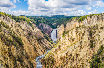 Canyon of the Yellowstone mit Lower Falls vom Artist Point