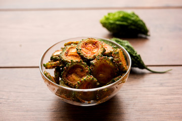 Karela Achar / Bitter Gourd Pickle, popular Indian recipe
