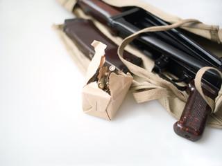 Pack of rounds and gun machine