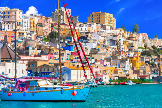 Sicily - beautiful coastal town Sciacca in south of island. Italy