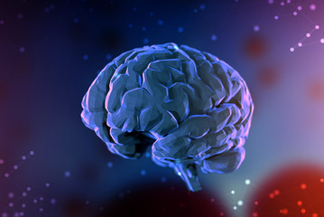 3d illustration digital brain. Concept of artificial intelligence and the limitless possibilities of the mind