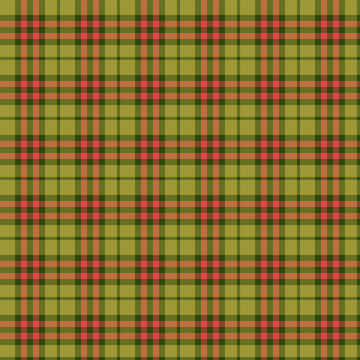 Green Red Tartan Plaid Scottish Pattern. Traditional checkered British fabric simple pattern. Scotch Tartan Seamless classic texture Background. Trendy geometric texture check tile Vector Illustration