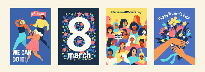 International Womens Day. We can do it Vector templates for card, poster, flyer and other users.