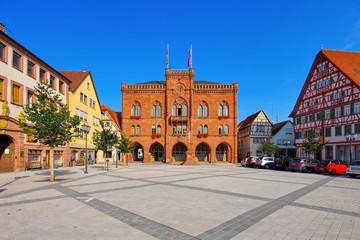 Tauberbischofsheim Rathaus - town hall in Tauberbischofsheim, Germany