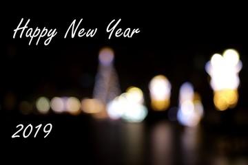 Obraz światełka, sylwester, nowy rok, kartka z życzeniami  - fototapety do salonu