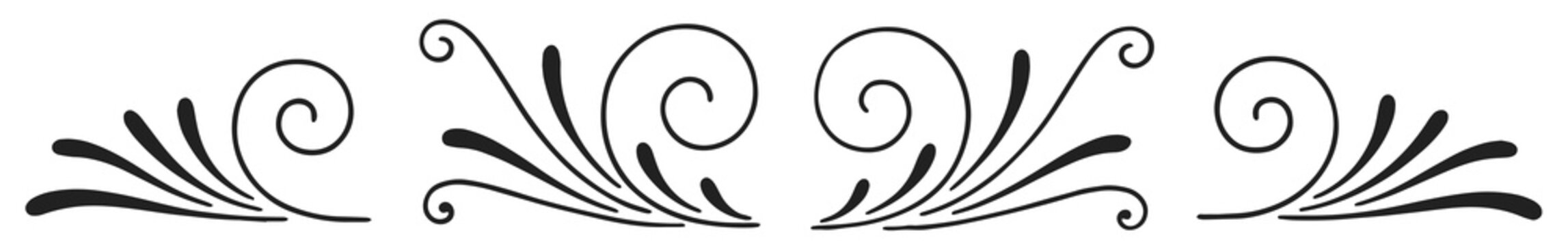 Vintage calligraphic decoration design elements set #isolated #vector