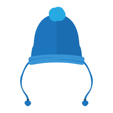 Isolated wool hat. Winter clothes. Vector illustration design