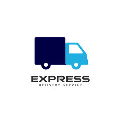 express delivery services logo design. courier logo design template