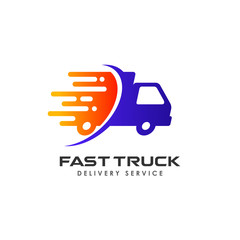 fast delivery services logo design. courier logo design template icon vector
