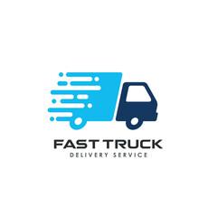 fast delivery services logo design. courier logo design template icon vector