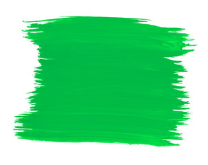 A fragment of the green color background painted with watercolors