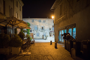 Fotomurales - Night cityscapes of the French city of Carcassonne
