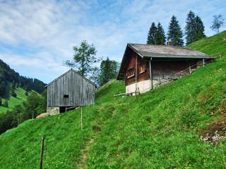 Farms and pastures of the Ostschweiz region - Canton of Appenzell Ausserrhoden, Switzerland