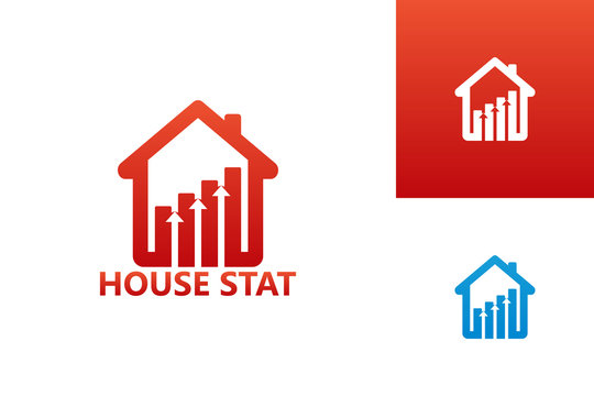 House Statistic Logo Template Design Vector, Emblem, Design Concept, Creative Symbol, Icon