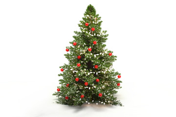 Christmas tree fir with baubles 3d-illustration Wall mural
