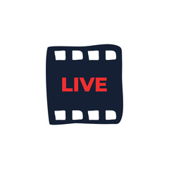 Live and Online Video. Vector design