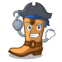 Pirate cowboy boots in the shape cartoon