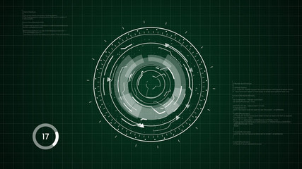 Digital HUD Circular Element