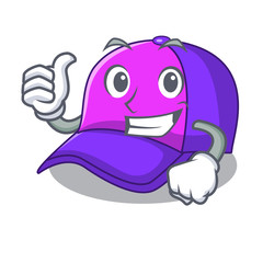 Thumbs up isolated cap in the a mascot
