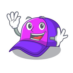 Waving isolated cap in the a mascot