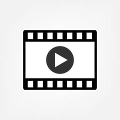 Play video film strip vector icon. For your web site design, logo, app, UI. Vector illustration