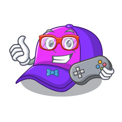 Gamer cap character in the shape funny