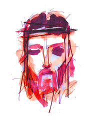Jesus Christ Face at his Passion