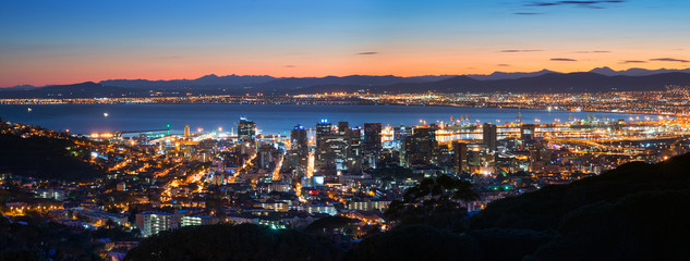 Night Cape Town. Panoramic view Fototapete