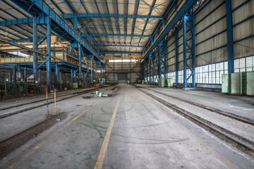 abandoned factory house building
