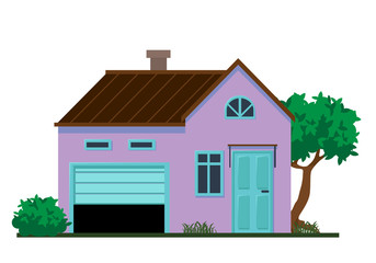 Family house vector illustration