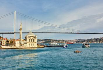 Ortakoy mosque and Bosphorus bridge, Istanbul