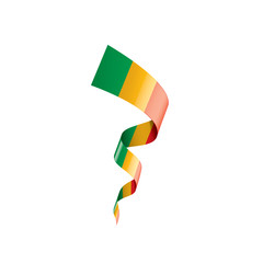 Mali flag, vector illustration on a white background.