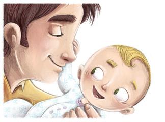 bebe feliz con su padre